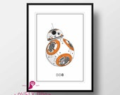 Star Wars Poster | BB8 | Galactic Empire | Movies | Boy Room | Design | Decor | Trends | Wall Art | Wall Decor | Home Decor | Digital Prints