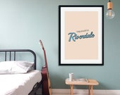 Welcome to Riverdale Poster | Riverdale | TV Series Poster | Typography Wall Art | Home Decor | Teen Room Decor | Wall Art