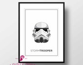 Star Wars Poster | Stormtrooper | Galactic Empire | George Lucas | Design | Decor | Trends | Wall Art | Wall Decor | Home Decor | Digital
