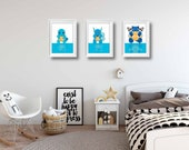 Pokemon Posters | Set of 3 posters | Squirtle Evolution | Games | Wall Art | Playroom Decor | Kids Room | Boy Room Decor | Video Game Decor