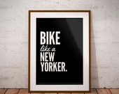 Bike Quote Poster | Cycling Art | Bicycle Poster | Sports Decor | Gym Decor | Fitness Print | Typography Print | Outdoor Decor | Home Decor