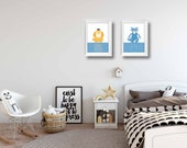 Pokemon Posters | Set of 2 posters | Psyduck Evolution | Games | Wall Art | Playroom Decor | Boy Room Decor | Video Game Decor | Most Sold