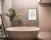 No Selfies in the Bathroom Poster | Girl's Room Decor | Home Decor | Quote Prints | Bathroom Sign | Bathroom Decor | Funny Sign | Digital