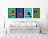 Bids Poster | Birds Print...