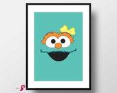 Sesame Street Poster | Rosita | Children's TV Series | Playroon Decor | Kids Room | Childrens Room | Girl Nursery Decor | Sesame Street Sign