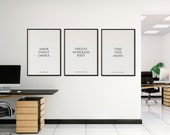 Latin Quote Set of 3 Posters | Matching Quote Prints | Office Quote | Office Decor | Home Decor | Inspirational Quote | Quote Print