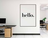 Hello Poster | Office Dec...