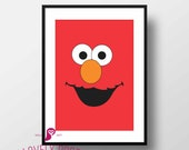 Sesame Street Poster | Elmo | Children's TV Series  |  Playroon Decor | Kids Room | Childrens Room | Wall Art | Home Decor |Digital Download