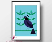 Bids Poster | Birds Print | Wild Animals | Forest | Nature Prints | Wall Art | Wall Decor | Home Decor | Tropical Decorr | Digital Download