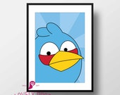 Angry Birds Poster | Blue...