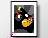 Angry Birds Poster | Bomb...