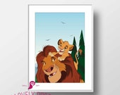 Lion King Poster | Lion King | Disney Decor | Kids Room Decor | Kids Room Prints | Nursery Decor | Nursery Wall Art | Playroom Decor
