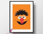Sesame Street | Ernie Poster  | Preschool | Kids | Wall Art | Wall Decor | Home Decor | Prints | Poster | Digital Paper | Digital Download