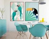 Tropical Birds Poster | S...