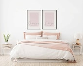 Sleep All Day, Dance All Night Set of 2 Posters | Wedding Gift | Bedroom Decor | Housewarming Gift | Home Decor |Couple Print | Quote Prints