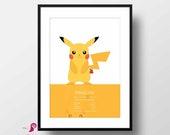 Pokemon | Set of 6 Posters | Pokemon Go | Wall Art | Playroom Decor | Kids Room Decor | Boy Room Decor | Video Game Decor | Gallery Wall Set