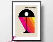 Bauhaus Poster | Bauhaus Lamp | Bauhaus Poster | Bauhaus | Mid Century Modern | Modern Wall Art | Vintage Poster | Minimalist Art | Office
