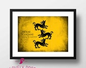 Game of Thrones | House Clegane | Game of Thrones Poster | Winter is Coming | Movie Poster | Film Poster | Home Wall Art | Digital Print