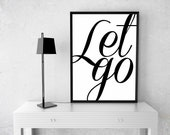 Let Go Poster | Typograph...