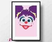 Sesame Street Poster | Abby | Children's TV Series | Playroon Decor | Kids Room | Childrens Room | Girl Nursery Decor | Sesame Street Sign