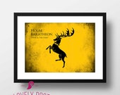 Game of Thrones Poster | House Baratheon | Winter is Coming | Movie Poster | Minimalist Movie Poster | Film Poster | Wall Art | Home Decor