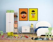 Sesame Street | Bert Poster | Children's TV Series  |  Playroon Decor | Kids Room | Childrens Room | Wall Art | Home Decor |Digital Download