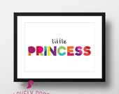 Little Princess | Girl Bedroom Decor | Girl Room Decor | Girl Nursery Decor | Dorm Decor | Kids Room Decor | Playroom Decor | Kids Quotes
