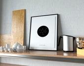 Caffeine Molecule Poster | Science Decor | Chemistry Art | Kitchen Decor | Kitchen Sign | Coffee Sign | Coffee | Home Decor | Quote Prints