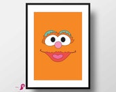 Sesame Street Poster | Zoe | Children's TV Series  |  Playroon Decor | Kids Room | Childrens Room | Wall Art | Home Decor | Digital Download