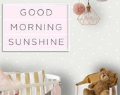 Good Morning Sunshine | 2 Color Options | Nursery Wall Art | Nursery Decor | Girls Nursery Decor | kids Room Decor | Above Crib Wall Art