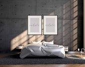 Inhale, Exale Poster | Set Of 2 Prints | Couple Gifts | Home Decor | Quote Prints | Bedroom Decor | Above Bed Decor | Scandinavian Poster