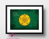 Game of Thrones | Game of Thrones Poster | House Tyrell | Winter is Coming | Movie Poster | Minimalist Print | Film Poster | Home Wall Art