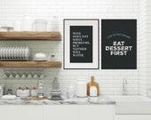 Wine Poster | Inspirational Quote | Kitchen Decor | Kitchen Sign | Wine Sign  | Wine Prints | Kitchen Wall Art | Home Decor | Quote Prints