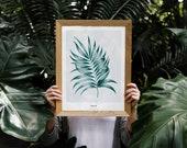 Palm Leaf Poster | Tropic...