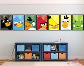 Angry Birds Poster | Bomb | Black Bird | Video Game Decor | Geek | Playroom Decor | Kids Room | Boy Room Decor | Wall Art | Digital Download