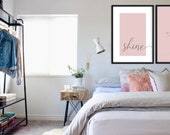 Let Your Light Shine Poster | 2 Color Options | Bedroom Decor | Home Decor | Mindfulness Print | Quote Prints | Bedroom Wall Art | Quotes