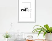 But First Coffee Poster | Coffee Lover | Kitchen Decor | Kitchen Sign | Coffee Sign | Coffee Prints | Wall Decor | Home Decor | Quote Prints