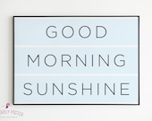 Good Morning Sunshine | 2 Color Options | Nursery Wall Art | Nursery Decor | Kids Room Decor | Baby Boy Nursery Decor | Above Crib Wall Art