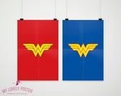 Wonder Woman Set of 2 Posters | Avengers | Marvel | Home Decor | Superhero Decor | Boys Room Decor | Superhero Bedroom | Superhero Party