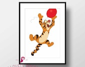 Winnie the Pooh Poster | Tigger | Pooh Bear | Childrens Room Art | Kids Decor | Nursery Decor | Playroom Decor | Wall Art | Digital Download