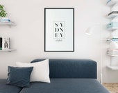 Sydney Poster | Australia Print | Sydney Print | Home Decor | Travel Prints | Modern Art | City Poster | Typography Print | Modern Art