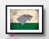 House Stark  | Game of Thrones Poster | Game of Thrones | Winter is Coming | Movie Poster | Film Poster | Home Decor | Digital Prints