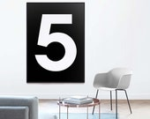 Custom Number Sign | Family Size Sign | Family Number Print | Personalised | Typography Print | Custom Number Print | Scandinavian Decor