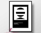 Architecture Poster | Bangladesh | Louis Kahn | Bauhaus Poster | Mid Century Modern | Architecture Print | Office Decor | Modern Wall Art