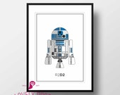 Star Wars Poster | R2D2 | Galactic Empire | George Lucas | Design | Decor | Trends | Wall Art | Wall Decor | Home Decor | Prints | Digital