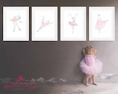 Ballet Poses Poster | Ballet | Ballerina | Hand Drawn | inspirational | Girls Room | Wall Art | Wall Decor | Home Decor | Prints | Poster