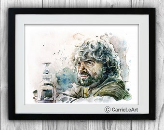 Tyrion Lannister print.Game of Thrones print,Tyrion Lannister Fan.Tyrion Lannister Poster.Tyrion Lannister Wall Art.Game of Thrones gift