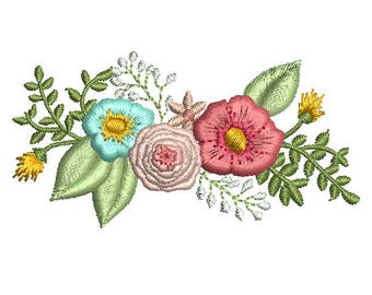 Floral Leaf Embroidery Designs Embroidery Machine Instant Download Q8070