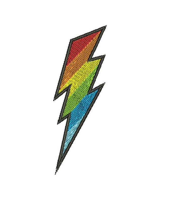 Simbolo Di Un Fulmine Ricamo Disegni Ricamo Macchina Download Etsy