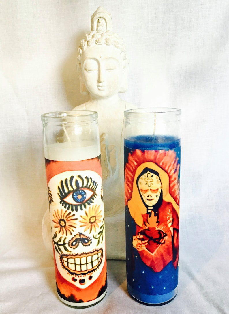 Candle, Ritual Candles, Ancestral Healing, Dia de los Muertos, Alter  Candle, Day of the Dead, Protection Candle, Purification Candle
